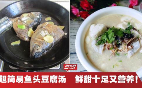 【内附食谱】必学!2种简单食材就能熬出一锅营养丰富的鱼头豆腐汤!